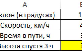 Как сделать синус в квадрате в excel?