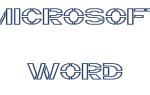 Как сделать трафареты букв в word?